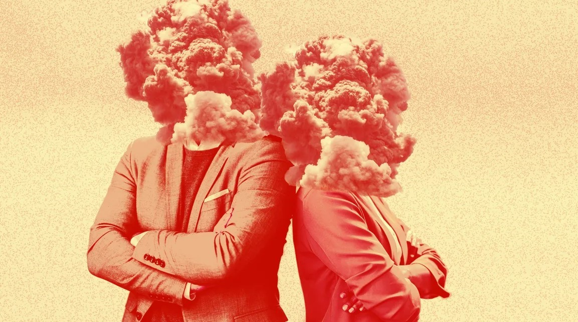 Leaders with their heads exploding
