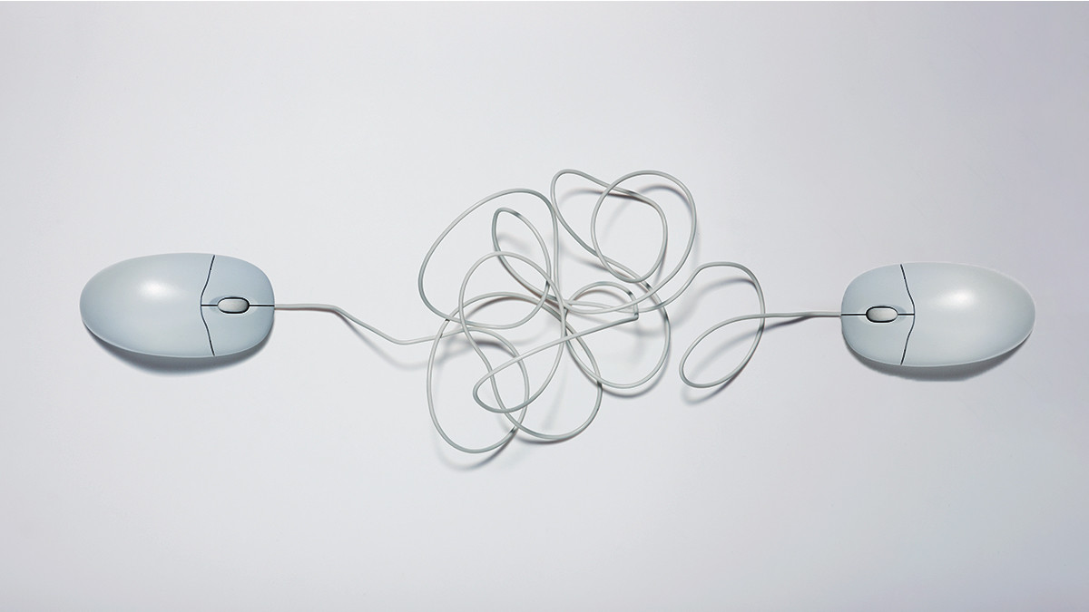 Tangled computer mouses