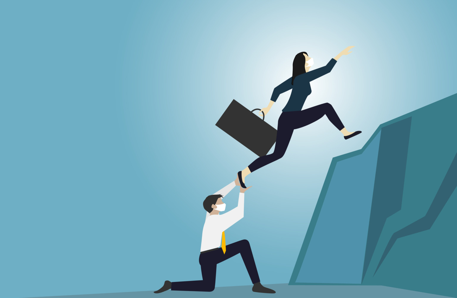 Executive coach helping leaders succeed