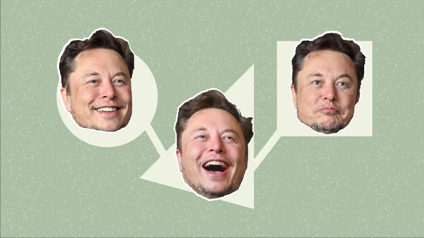 Elon Musk's faces