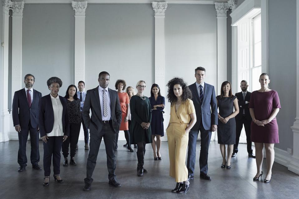 Diverse group of executives