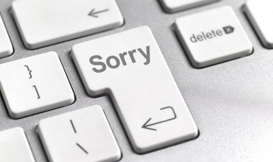 How a leader says I'm sorry