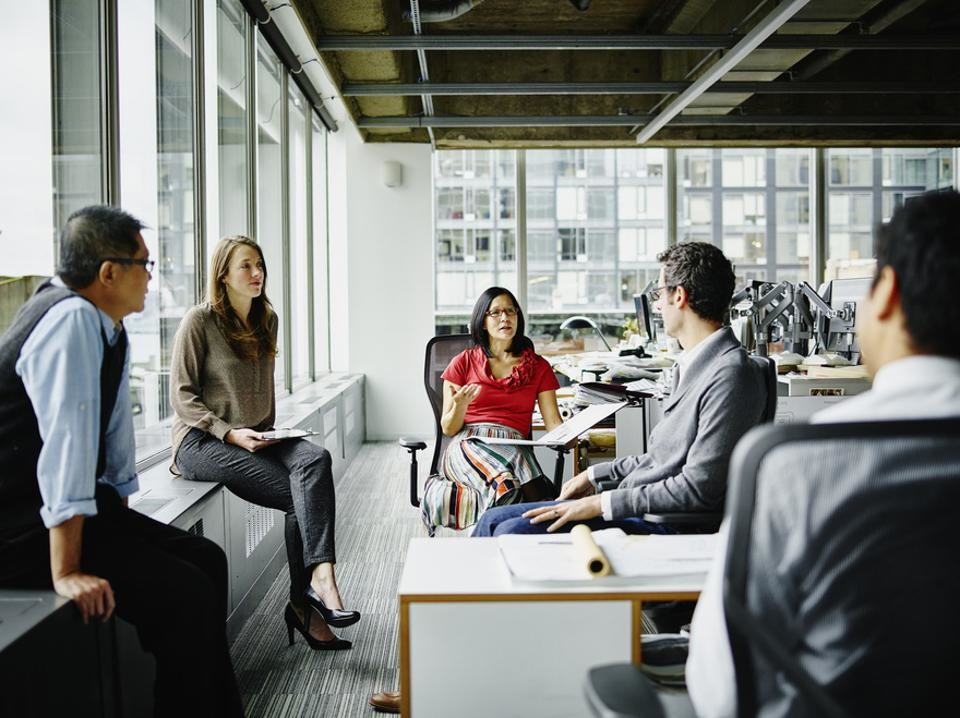 Young executives high-potentials being more inclusive meeting